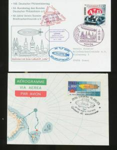 Germany France Grenada Aviation Zeppelin Cards Covers x 17 (Ac 341)