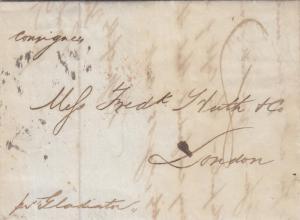1846, SFL: Ship Letter, New York to London, England via SS Gladiator (24333)
