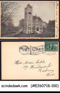 UNITED STATES USA 1904 COURT HOUSE FALL RIVER MASSA. PIC POSTCARD WH STAMP USED