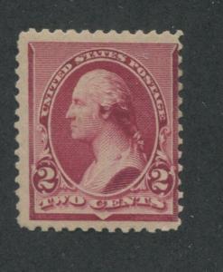 1890 US Stamp #219D 2c Mint Average Original Gum Catalogue Value $160