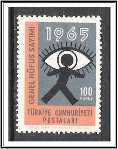 Turkey #1669 Census Issue MNH