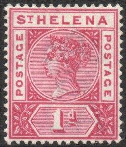 ST HELENA-1896 1d Carmine Sg 47 LIGHTLY MOUNTED MINT V43724
