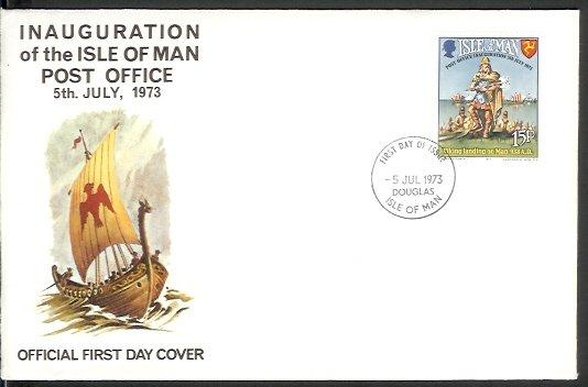Isle of Man - 1973 Inauguration of Postal Independence (FDC)