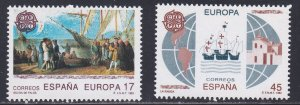 Spain # 2675-2676, Discovery of America 500th Anniversary, NH, 1/2 Cat