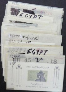 EDW1949SELL : EGYPT Collection of various singles & sets. All Very Fine, Mint NH