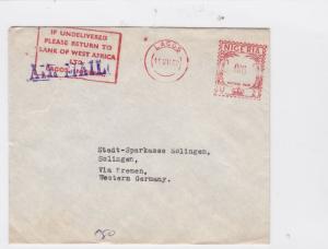lagos nigeria  1962 airmail  stamps cover  Ref 10020