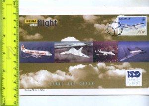 242120 KIRIBATI 100 years of FLIGHT PLANES 2003 year FDC