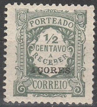 Azores #J30 F-VF Unused (V3538)