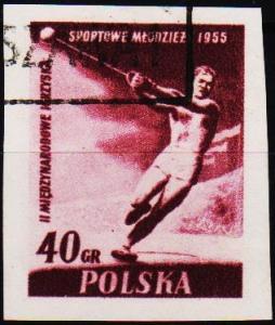 Poland. 1955 40g (Imperf.) S.G.940 Fine Used