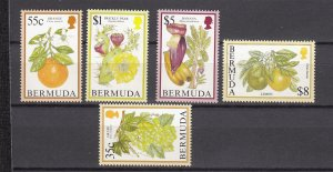 J26597 JLstamps 1994-5 bermuda hv,s of set mnh #675-6,680,683-4, $31.00+scv