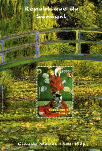 Senegal 1999 Claude Monet Paintings s/s Perforated mnh.vf