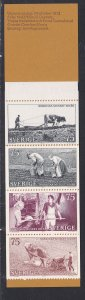 Sweden # 1014a, Farming, Complete Booklet, NH, 1/2 Cat