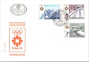Yugoslavia, Worldwide First Day Cover, Olympics