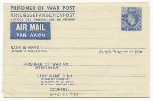 Great Britain Michel #FLF1 H&G #I-G2 Prisoner of War Post Air Mail Unused