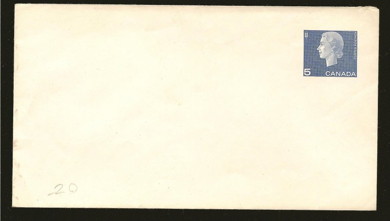 Canada U84 Pre Stamped #8 Envelope Unused