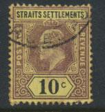 Straits Settlements Edward VII SG 115  Used