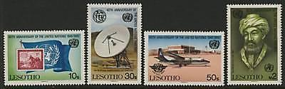 Lesotho 492-5 MNH United Nations, Aircraft, Flag, Maimonides, Stamp on Stamp