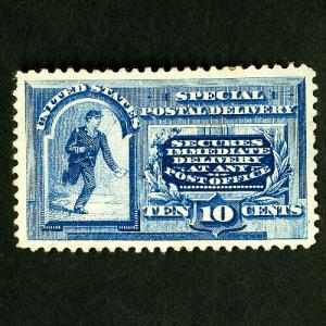 US Stamps # E2 Superb Thin Center Slight Hinge OG Catalog Value $500.00