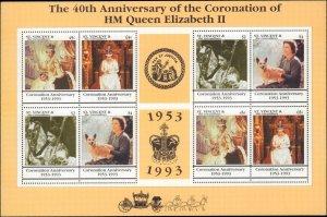 St. Vincent #1854, Complete Set, 1993, Royalty, Never Hinged