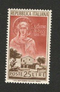 ITALY - MH STAMP -  S. CHIARA DI ASSISI , 2 L -1953.