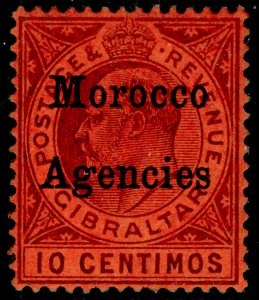 MOROCCO AGENCIES SG18, 10c dull purple/red, M MINT.