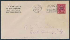 #646 ON ROESSLER FDC CACHET WASHINGTON, DC OCT 20,1928 CV $270 BU976