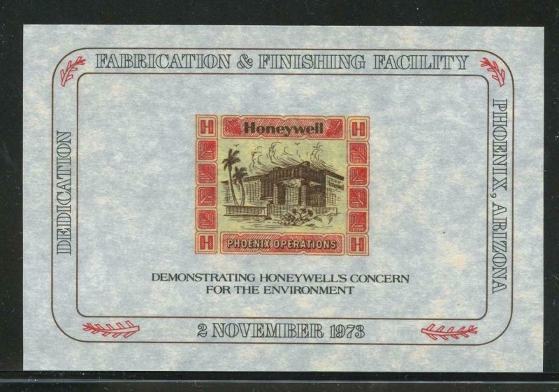 90512- HONEYWELL PHOENIX OPERATIONS - 1973 PARCHMENT PAPER POSTER STAMP