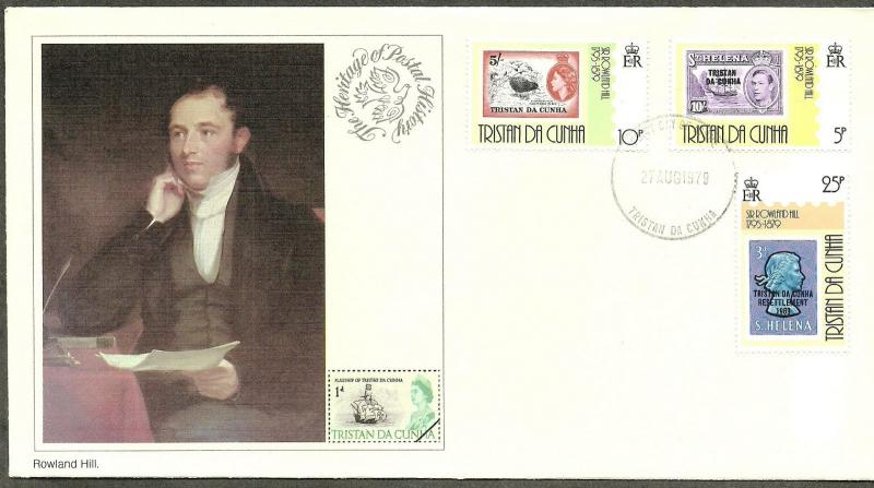 Tristan Da Cunha 1979 VF FDC The Heritage of Postal History Rowland Hill