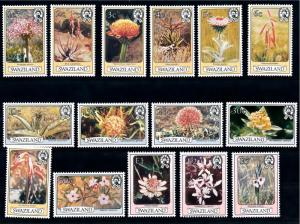[66913] Swaziland 1980 Flora Flowers Blumen 15 Values MNH