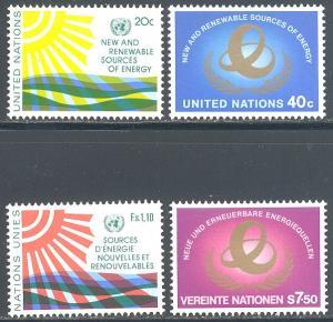 UN/US 348-349, UN/Switz 102, UN/Austria 21 MNH - Renewable Energy