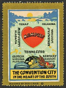 1910s MEMPHIS TENNESSEE  USA Advertising Poster Stamp