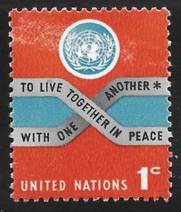 UN NY#146 1c Peace MNH