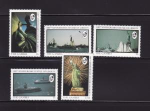 Gambia 677-680, 686 MNH Statue of Liberty