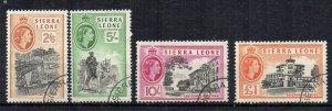 Sierra Leone 1956-61 2s 6d to £1 FU CDS