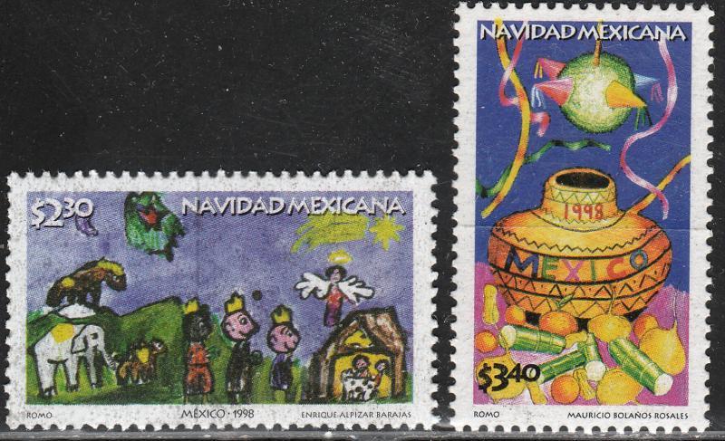 MEXICO 2107-2108, Christmas Season, 1998. MINT, NH. VF. (69)