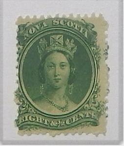 Nova Scotia 11. 1860-63 8 1/2c Green QV