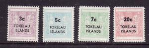 Tokelau-Sc#12-15-unused NH set-New Zealand postal-fiscal sur