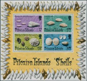 Pitcairn Islands 1974 SG151 Shells MS MNH