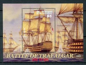 St Vincent & Grenadines 2005 MNH Battle of Trafalgar 200 1v S/S II Ships Stamps