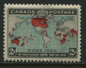 1898 Canada QV 2 cent Map stamp unmounted mint NH and almost VF