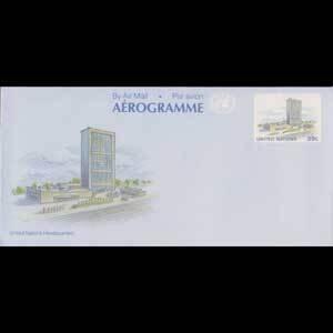 UN-NEW YORK 1989 - Aerogramme-Headquarters 39c