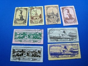 RUSSIA 1953  -  SCOTT # 1680-1687    USED