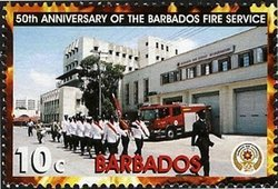 Barbados 2005 Parade at firehouse MNH**
