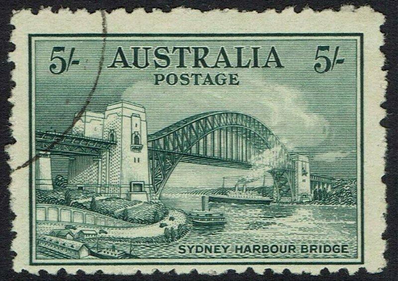 AUSTRALIA 1932 BRIDGE 5/- USED/CTO