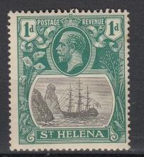 St. Helena - 1922 KGV - Badge of the Colony 1p Sc# 80 - MLH (8900)