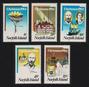 Norfolk Ships Christmas Centenary of Methodist Church on Norfolk Island 5v