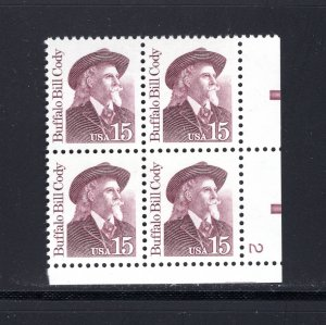 US #2177a,  Plate # Block, VF, MNH, Great Americans, CV $3.25 ..... 6785636