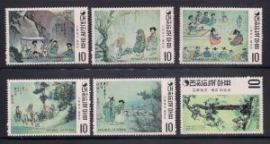 KOREA, SC# 781-786, 1971 PAINTINGS SET MNH