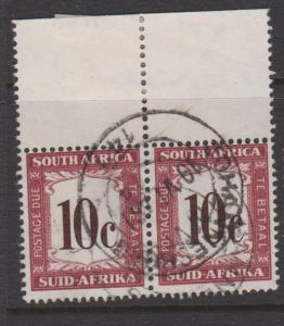 South Africa Sc#J60 Used Pair