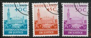 Netherlands Scott o41-43 1977 official stamp set